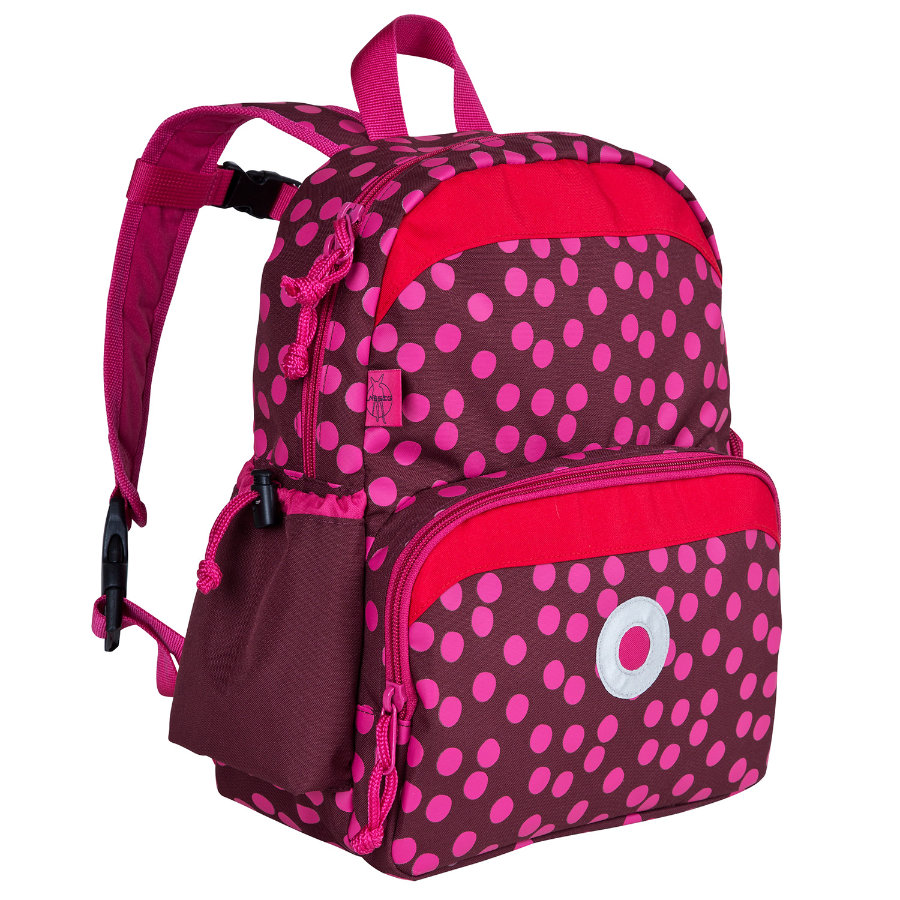LÄSSIG Plecak Mini Backpack Dottie kolor czerwony