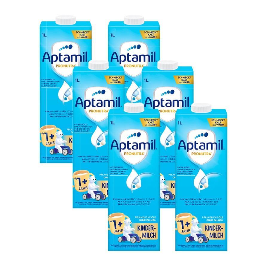 Aptamil Kindermilch 1+ trinkfertig 6 x 1 l ab dem 1. Jahr