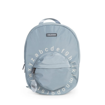 CHILDHOME Cartable d'école enfant alphabet gris/blanc