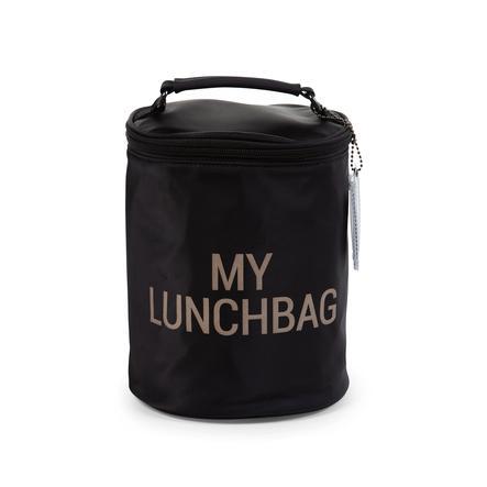 CHILD HOME Lunchtas met isolerende voering zwart/goud