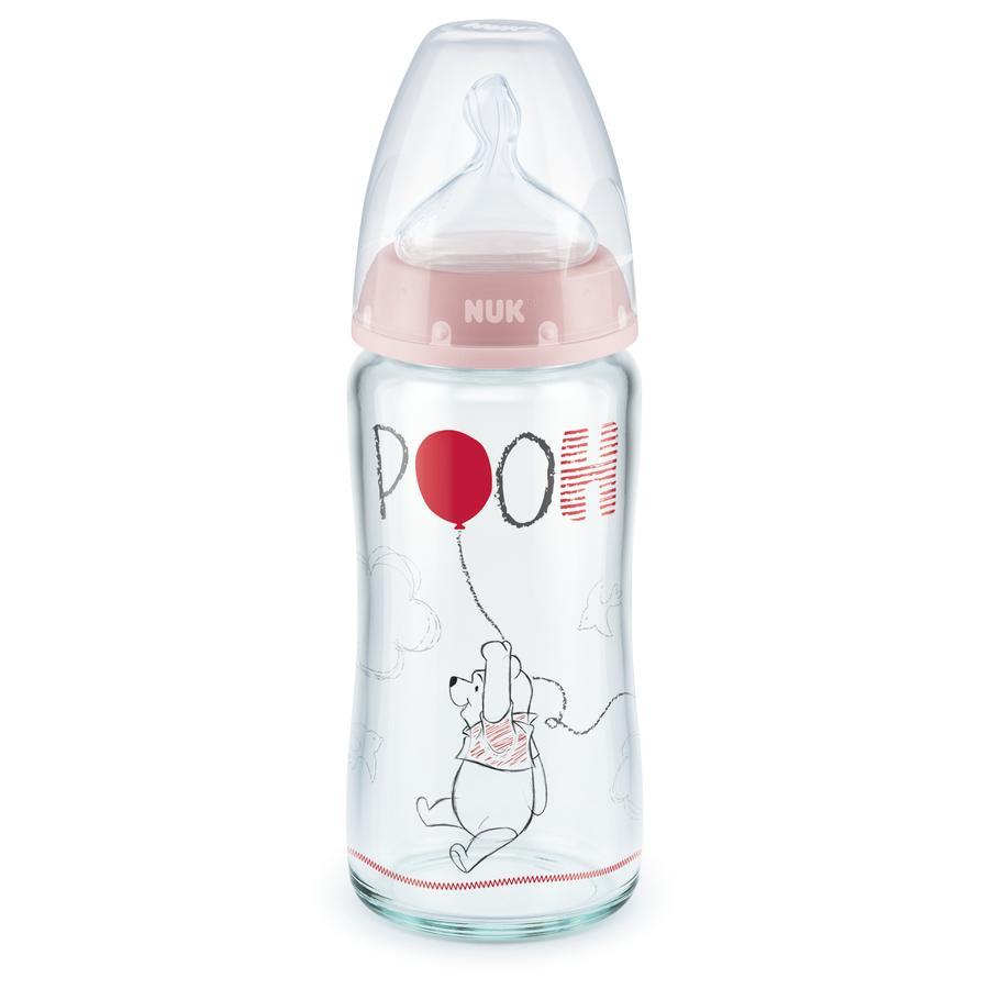 NUK Glasflaska Nature Sense Disney Winnie The Pooh 240 ml