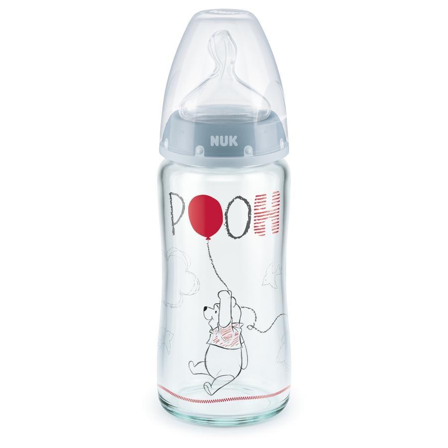 NUK Bouteille en verre Nature Sense Disney Winnie l'ourson 240 ml
