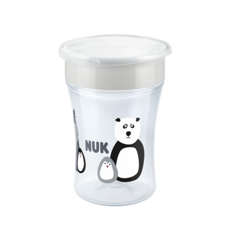NUK Trinklernbecher Evolution Magic Cup, Monochrome Animals, 230ml  weiß