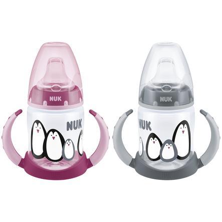 NUK Butelka do picia First Choice Monochromatyczna Animals 150 ml Szary/Różowy