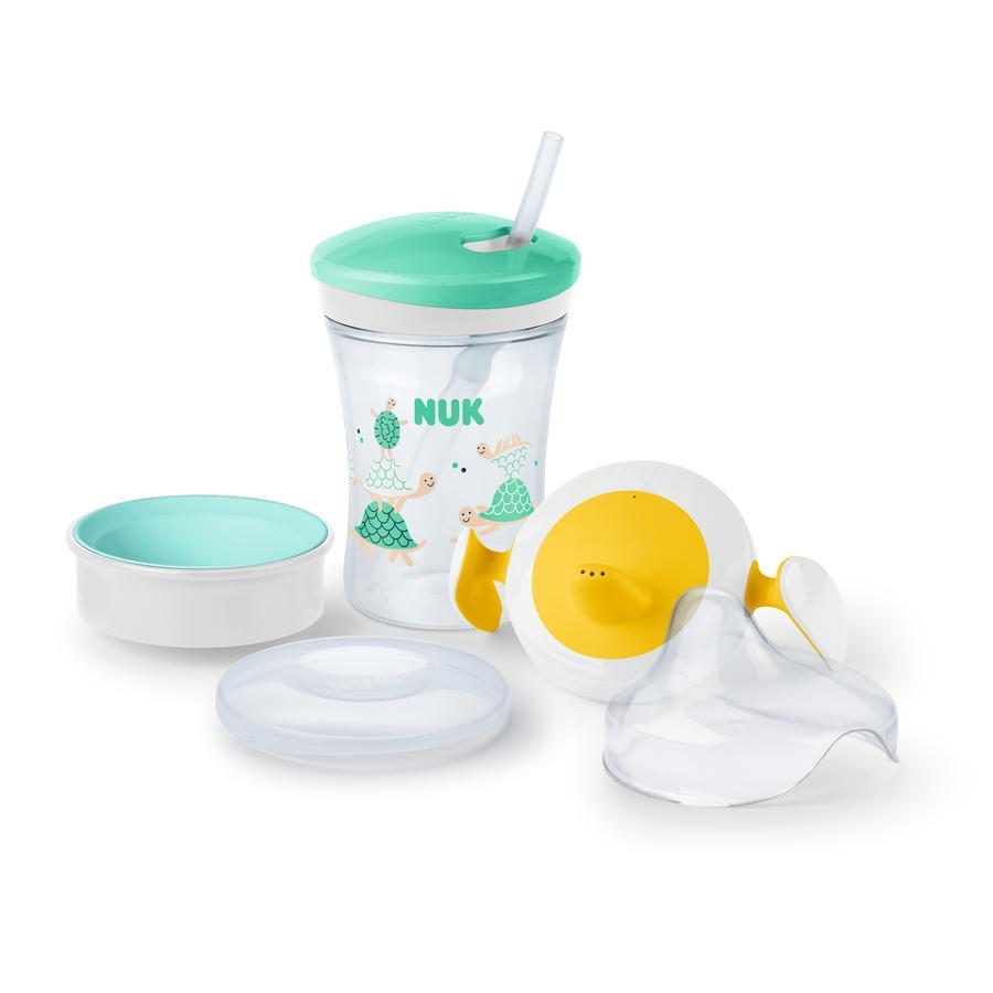 NUK Coffret tasse enfant neutre vert