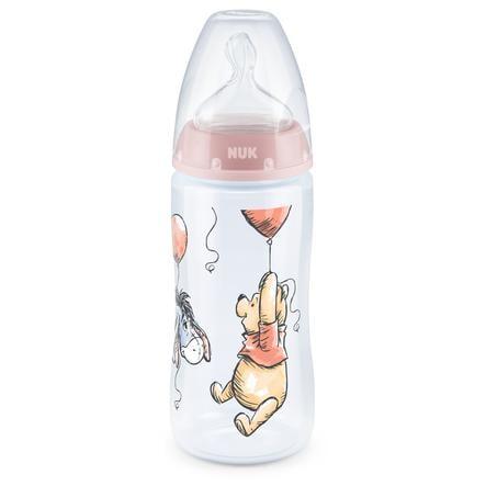 NUK Babyflasche First Choice Plus Disney Winnie The Pooh 300 ml mit Trinksauger rosa, 6 - 18 Monate