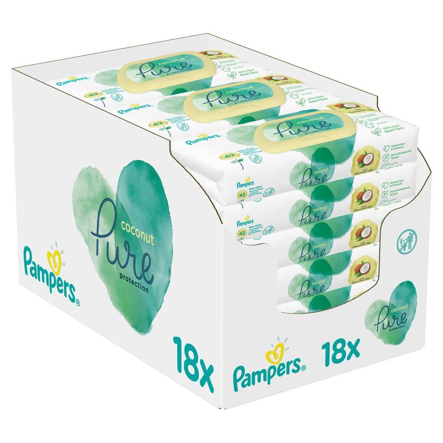 Pampers Coconut Pure Feuchttücher 18 x 42 Stück (756 Stück)