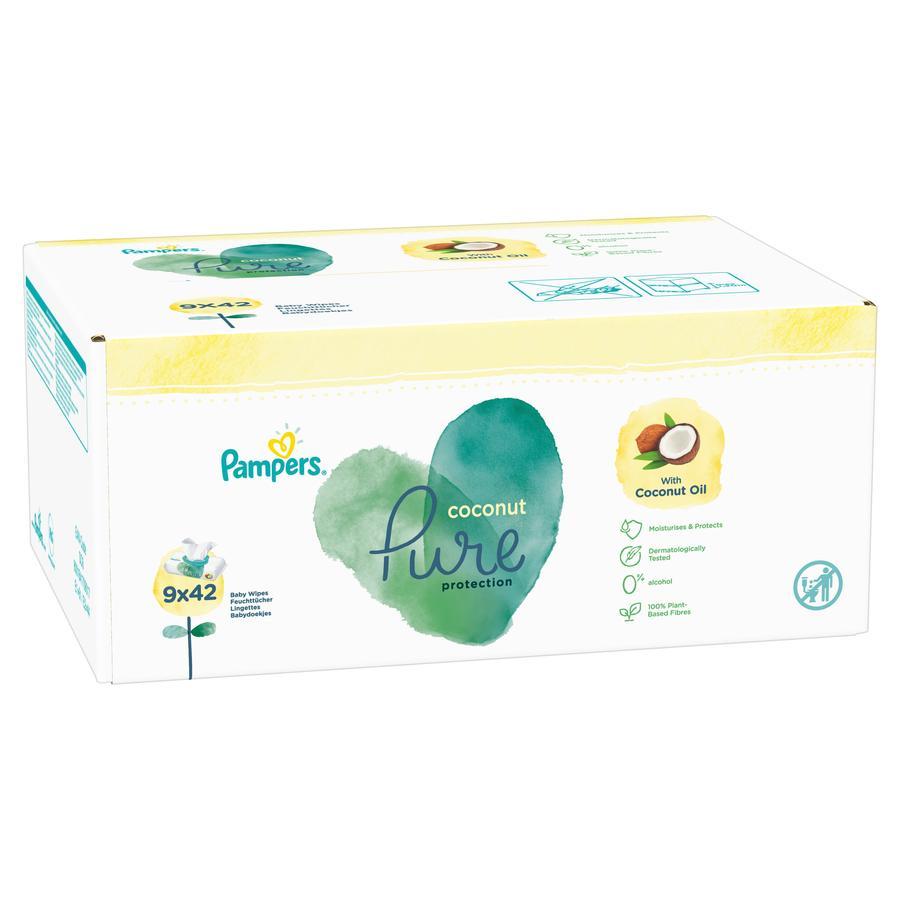 Pampers Coconut Pure kosteuspyyhkeet 9 x 42 kpl (378 kpl)