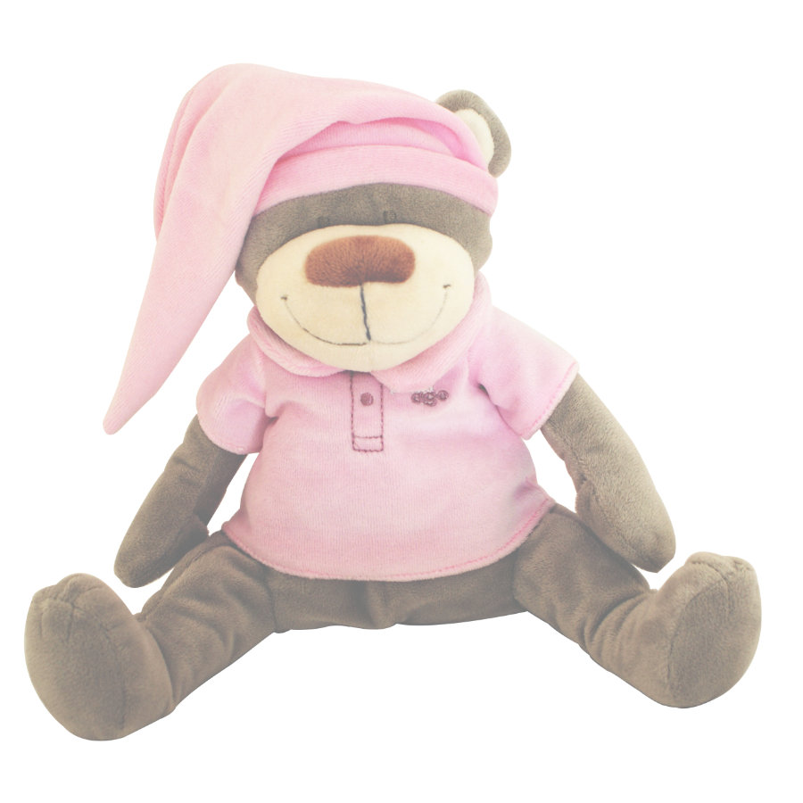 Babiage Doodoo Peluche musicale Ours rose clair