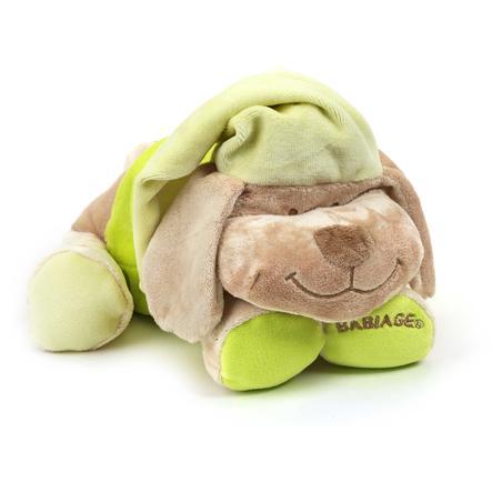 Babiage Doodoo Peluche musicale chien vert-lime