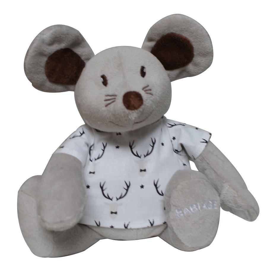 Babiage Doodoo Mouse Xmas grå-hvit