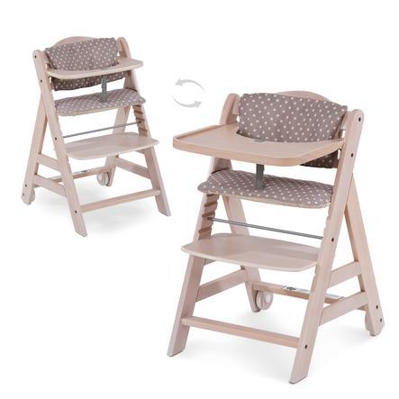 hauck Chaise haute enfant évolutive Beta Plus bois pois/whitewashed