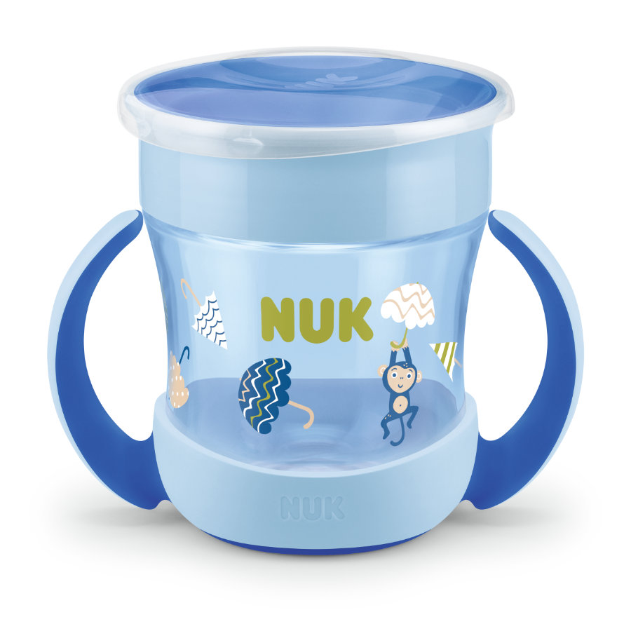 NUK Trinklernbecher Mini Evolution Magic Cup ab dem 6. Monat, blau