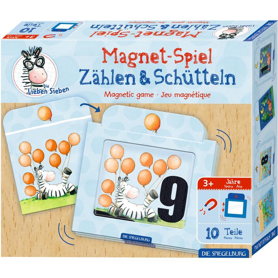 SPIEGELBURG COPPENRATH Magnetspiel Zählen & Schütteln Die Lieben Sieben