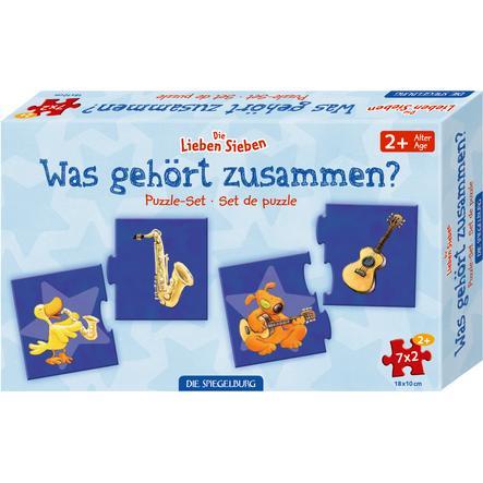 """SPIEGELBURG COPPENRATH Puzzle-Set """"Was gehört zusammen?"""" D.L.Sieben (7x2 Teile)"""
