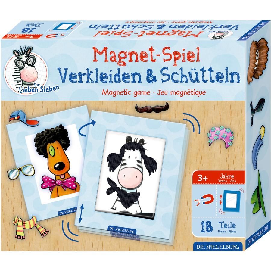 SPIEGELBURG COPPENRATH Magnetspiel Verkleiden & Schütteln Die Lieben Sieben