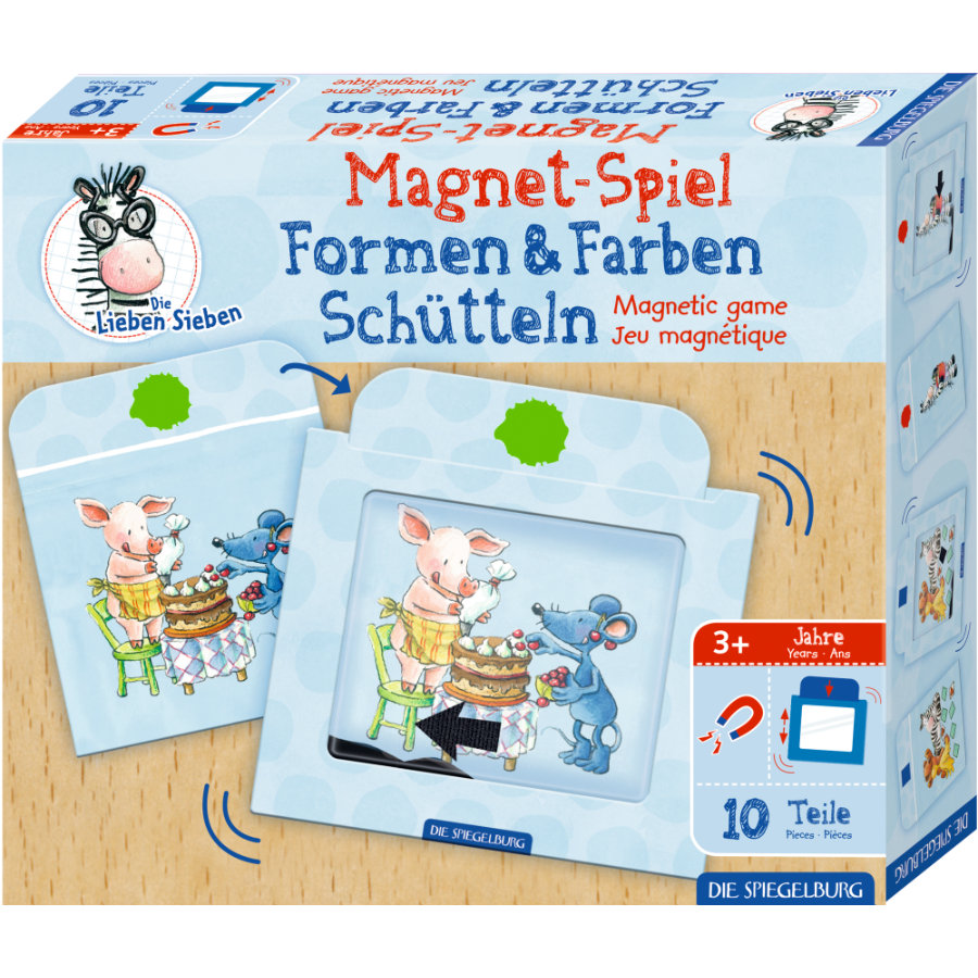 """SPIEGELBURG COPPENRATH Gioco magnetico Colori e forme che scuotono i """"Cari Sette""""."""