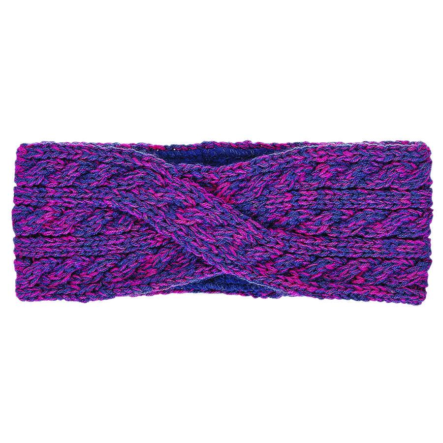 Sterntaler Bandeau tricoté magenta
