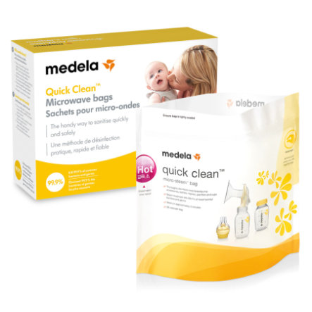 MEDELA Quick-Clean pose til sterilisation i mikroovn