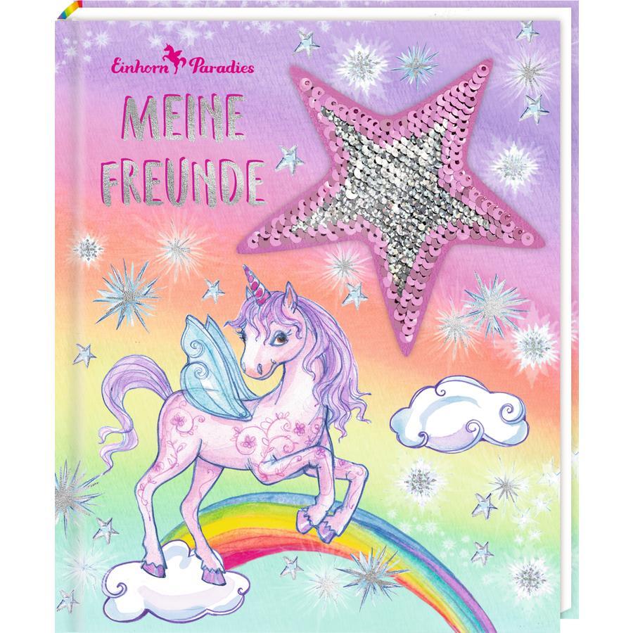 SPIEGELBURG COPPENRATH Freundebuch: Einhorn-Paradies Meine Freunde (m.Wendepailletten)