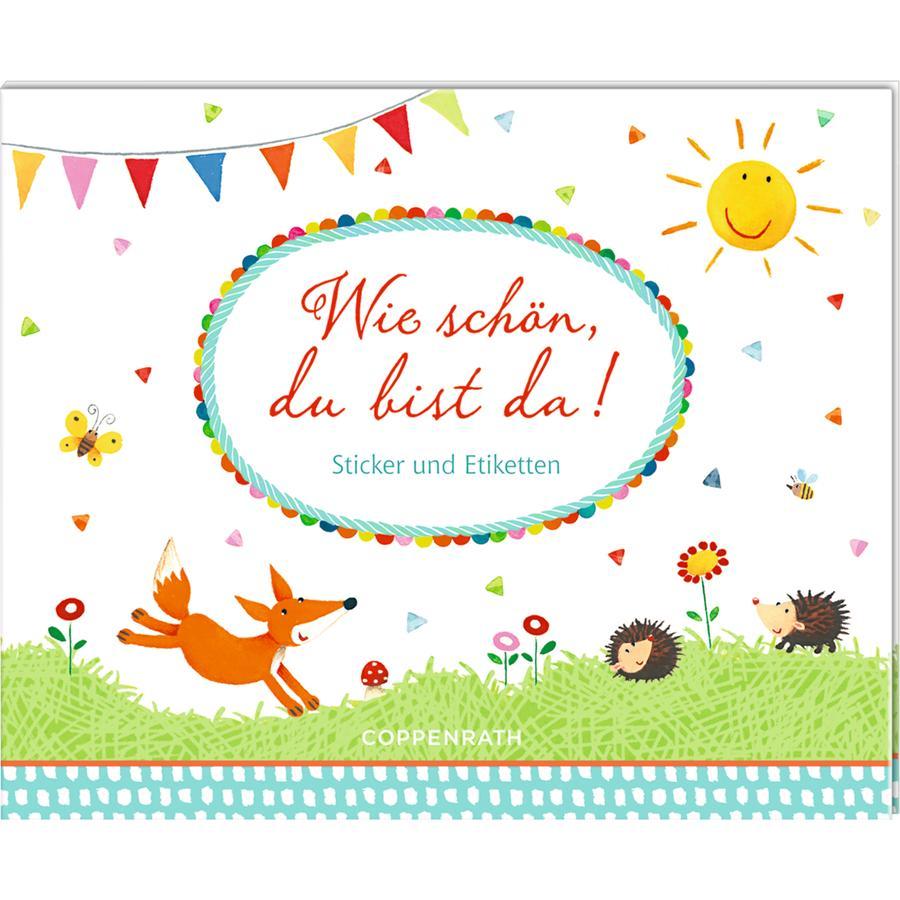 SPIEGELBURG COPPENRATH Stickerbuch: Wie schön, du bist da!