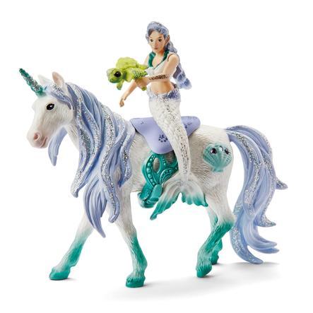 Schleich Figurine sirène sur licorne de mer 42509