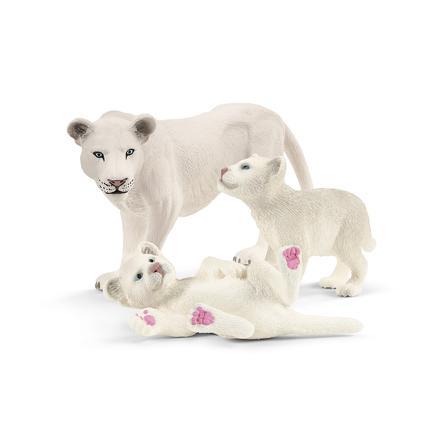 Schleich Moederleeuw met baby's 42505