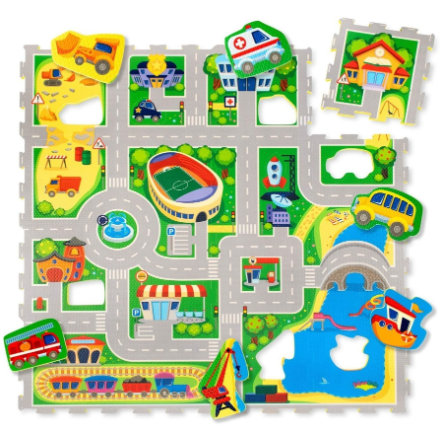Hakuna Matte Puzzle Mat - City (120 x 120 cm)