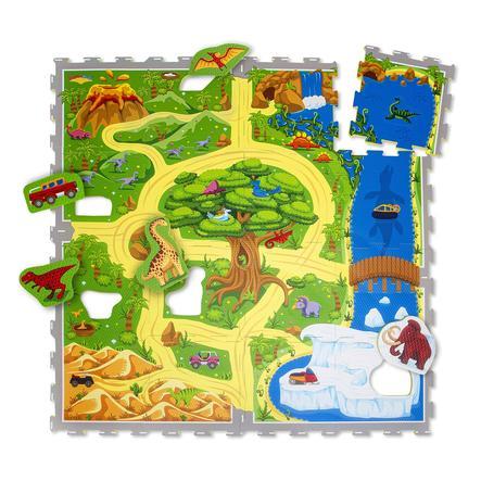 Hakuna Matte Puzzle Mat - Dinosaursafari (120 x 120 cm)