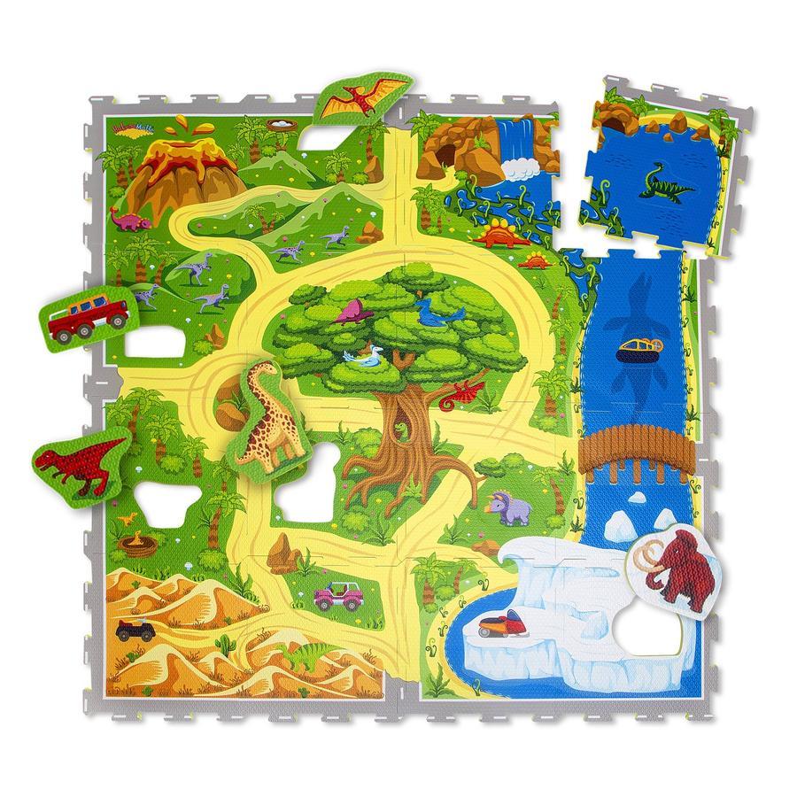 Hakuna Matte Mata puzzle - Dinozaur safari (120 x 120 cm)