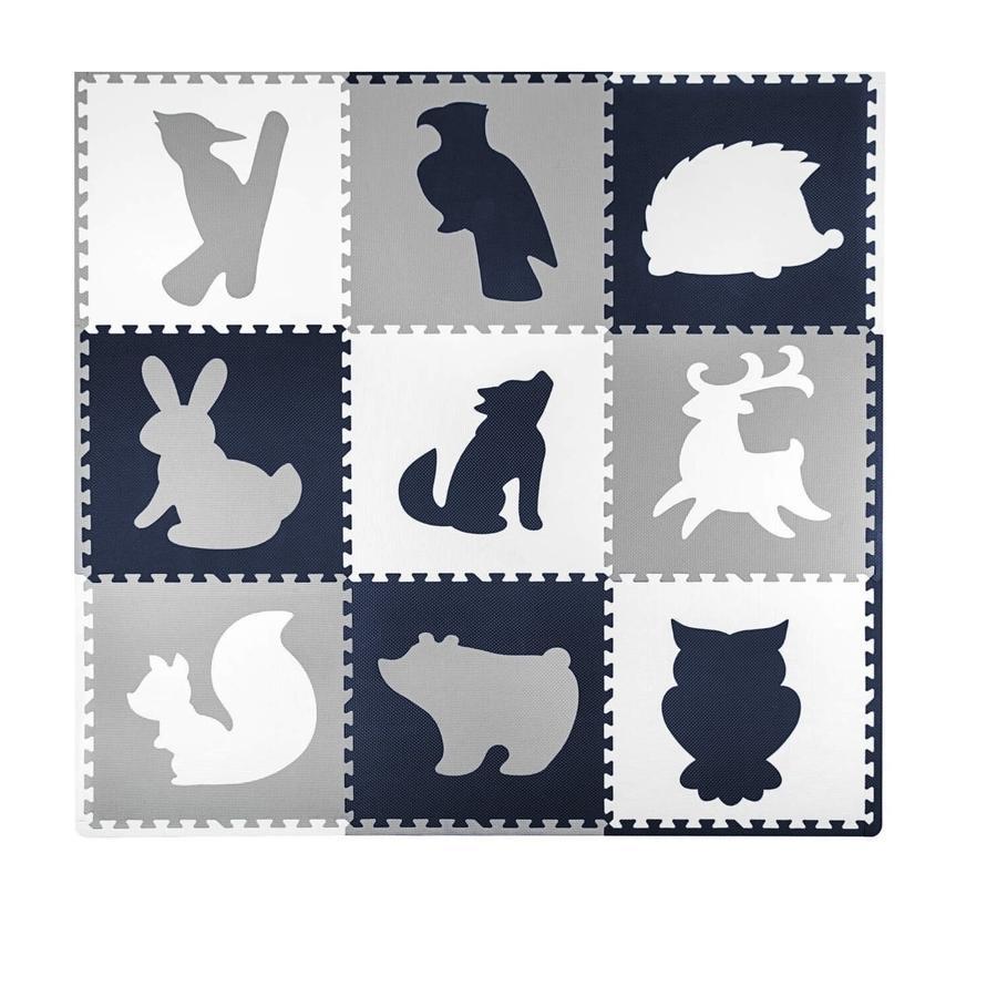 Hakuna Matte Tapis puzzle enfant XXL - forêt 180x180 cm