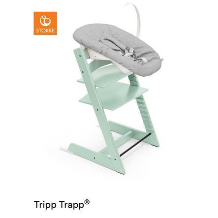 STOKKE® Tripp Trapp® Hochstuhl Buche Soft Mint inkl. Newborn Set™  Grey