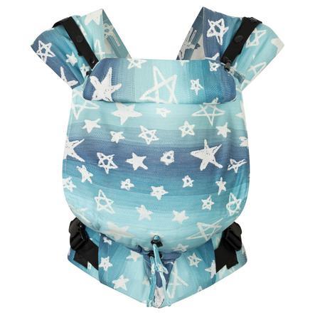 Hoppediz Pasgeboren babydrager Prime o Jacquard Singapore Blue