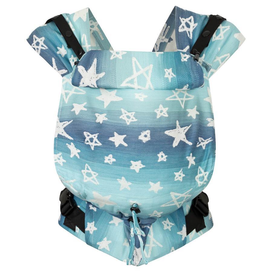 Hoppediz Neugeborenen Babytrage Primeo Jacquard Singapur Blue