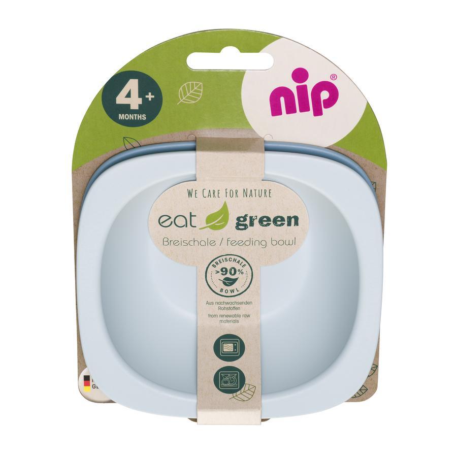 nip  Mash skål äta grön Uppsättning av 2, blå