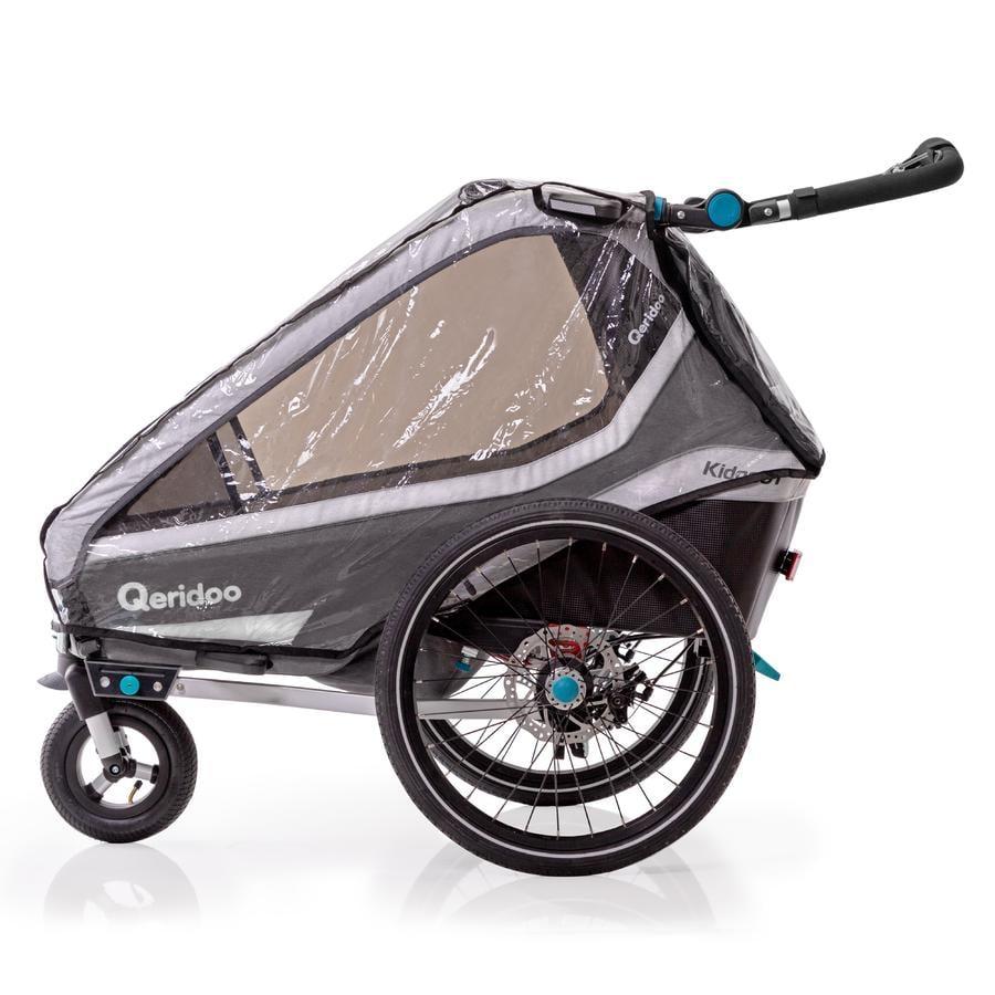 Qeridoo ® Pokrywa przeciwdeszczowa do przyczepki rowerowej Kidgoo1