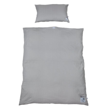 LITTLE  cubos de cama midi grey 100 x 135 cm