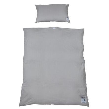 LITTLE sängkläder kuber midigrå 100 x 135 cm