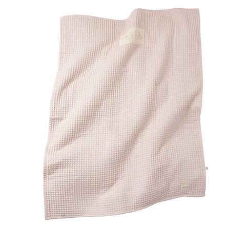 LITTLE  coperta reversibile coperta cialda piqué piqué powder rosa 80 cm x 80 cm