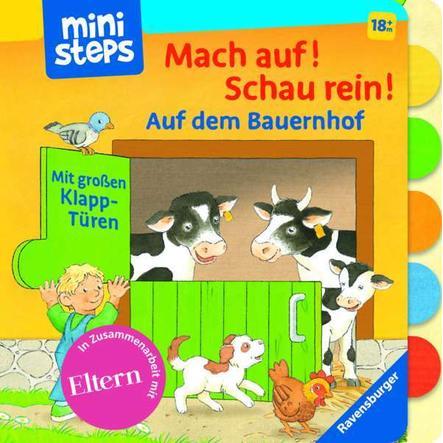 Ravensburger ministeps®Mach auf! Schau rein! Auf dem Bauernhof