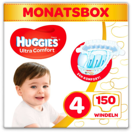 Huggies Couches Ultra Comfort Baby T.4 150 pièces pack mensuel