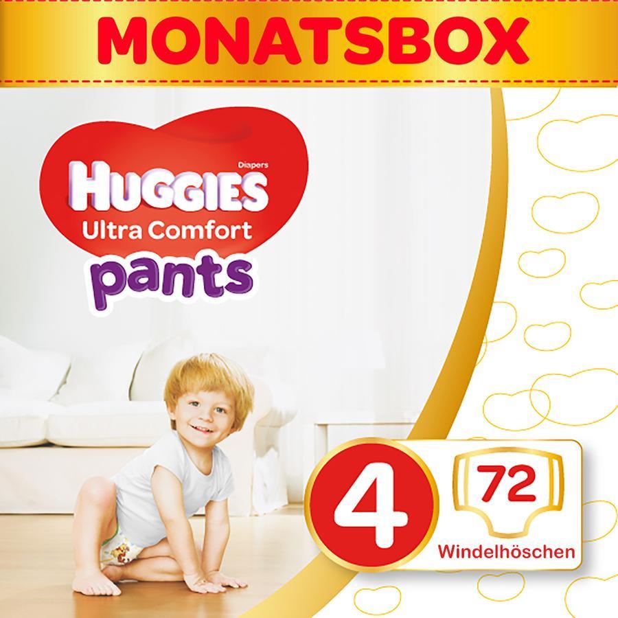 Huggies bleer Ultra Comfort bukser størrelse 4 måneders æske 72 stykker