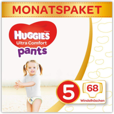 Huggies Couches culottes Ultra Comfort T.5 pack mensuel 68 pièces