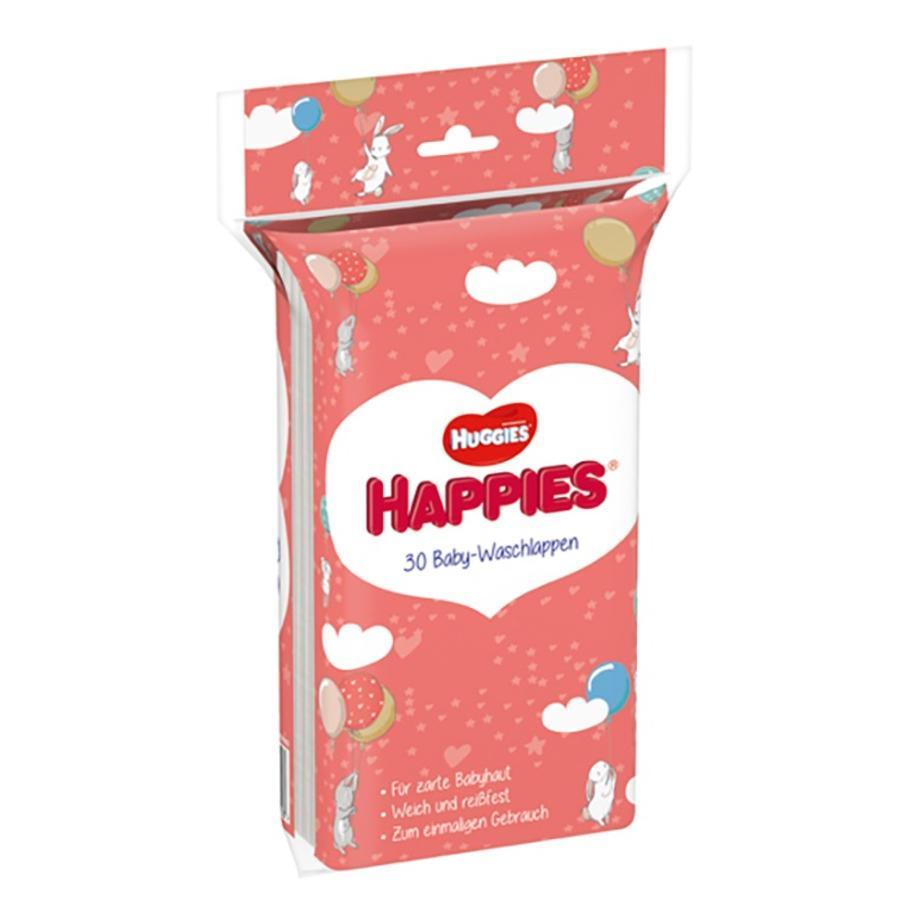 Huggies Happies Einmal-Waschlappen 21 x 30 Waschlappen