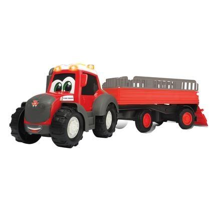 DICKIE Toys Tracteur enfant remorque transport de bétail Happy Massey Ferguson