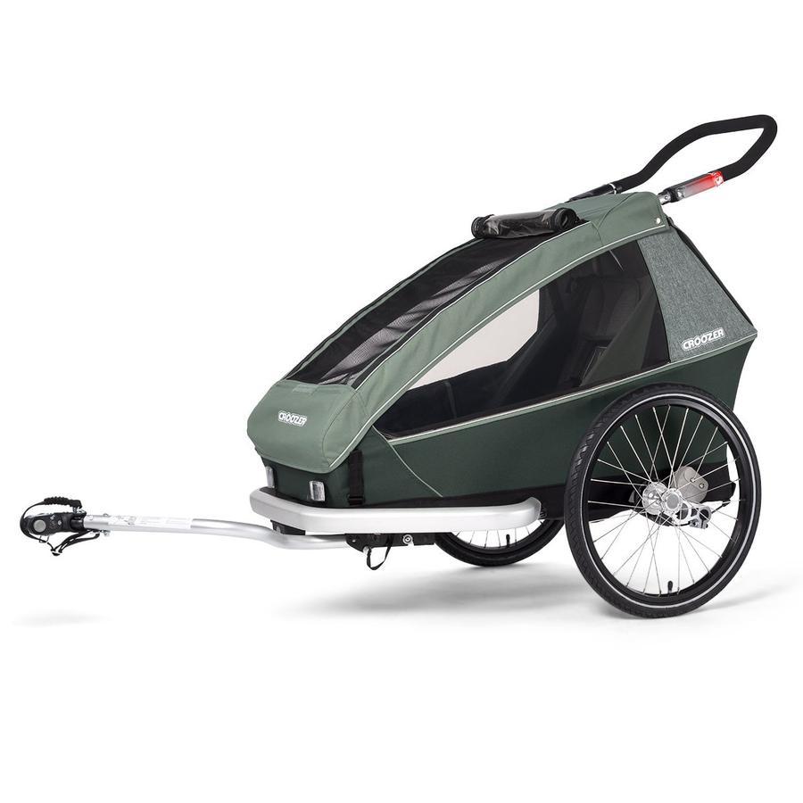 CROOZER Remolque de bicicletas para niños Kid Vaaya 1 Jungle green
