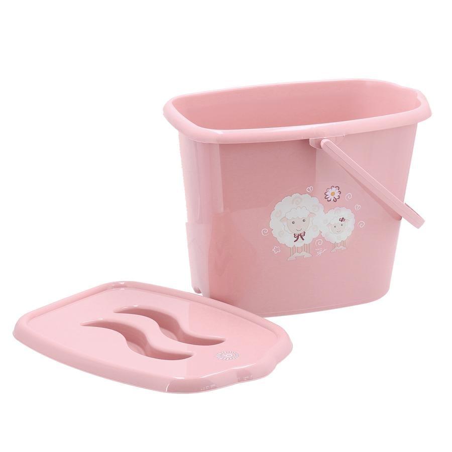 bieco Diaper Pail trendi vaaleanpunainen