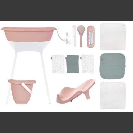 Luma® Babycare Set de bain bébé langes mousseline cloud pink