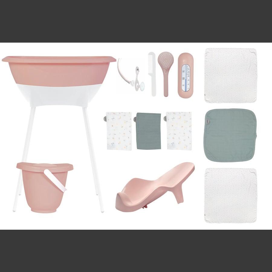 Luma® Babycare Badeset mit Muslin Tücher in Cloud Pink