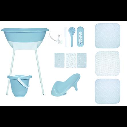Luma® Babypleie-badesett med muslinduk i Celestial Blue